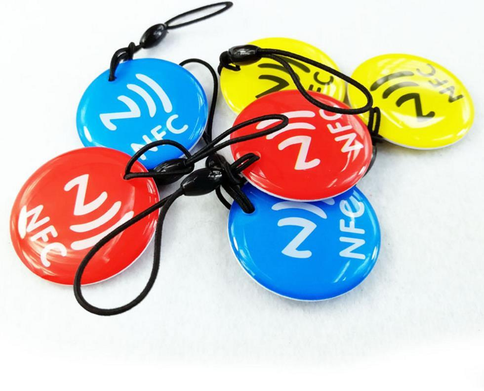 RFID EPOXY TAG With NFC215 Chip Tags Access Control Card Different Design Shape 13.56MHZ NFC 215 TAGS+Rope 1000Pcs