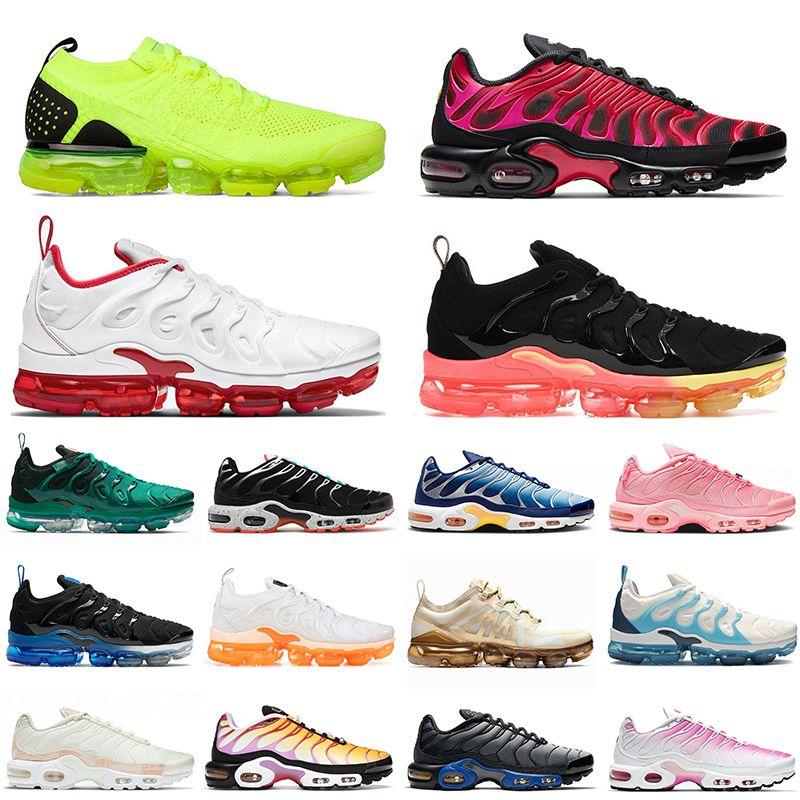 2021 Nike Air max vapormax plus  بلس إمرأة رجالي الاحذية MOC الثلاثي الأبيض الأسود في جميع أنحاء العالم فرط viole سرعة أحمر بارد رمادي رياضة رياضة المدربين حجم 13