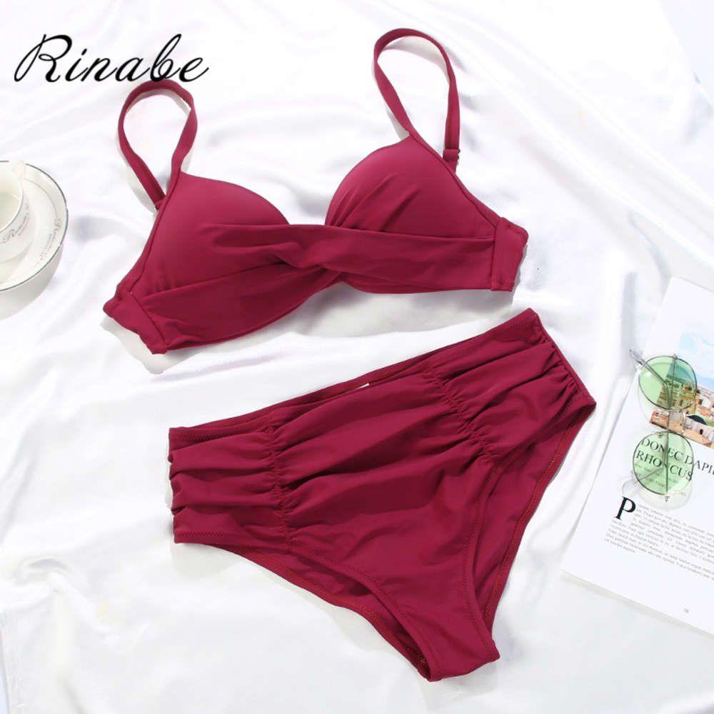 Rinabe Push Up Bikini Mochilas para mujer Batsuit Rigid Set Traje de baño Cuello en V BIQUINITH BECHWEAR