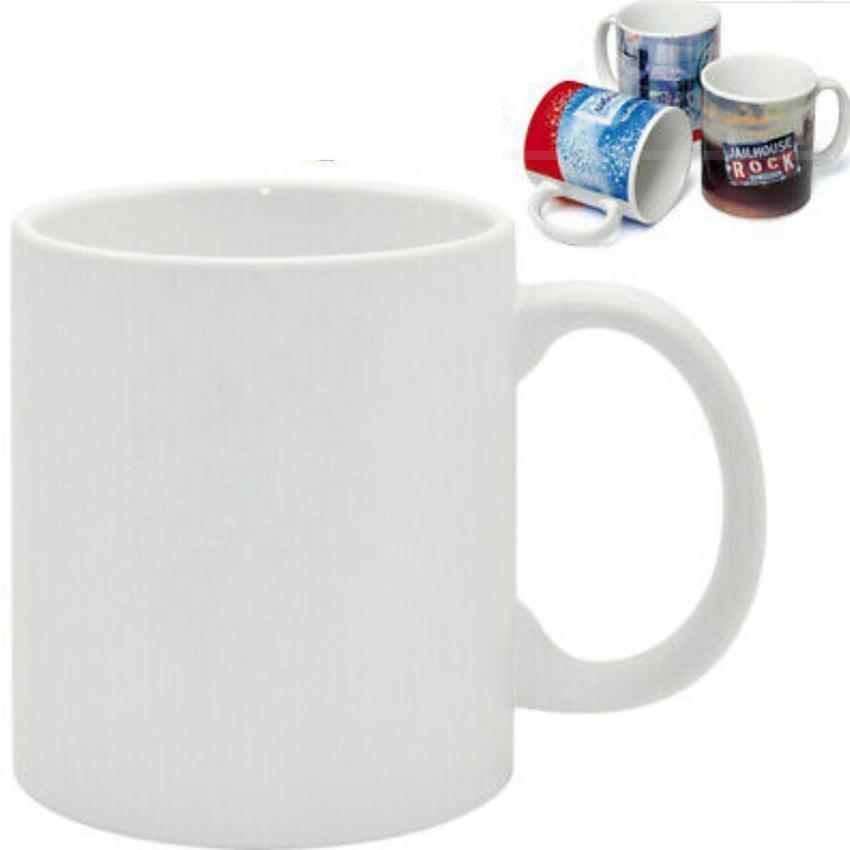 Sublimationsrohling Becher Persönlichkeit Thermische Übertragung Keramik Becher 11oz Weiß Wassertasse Party Geschenke Trinkzeichen FY4483