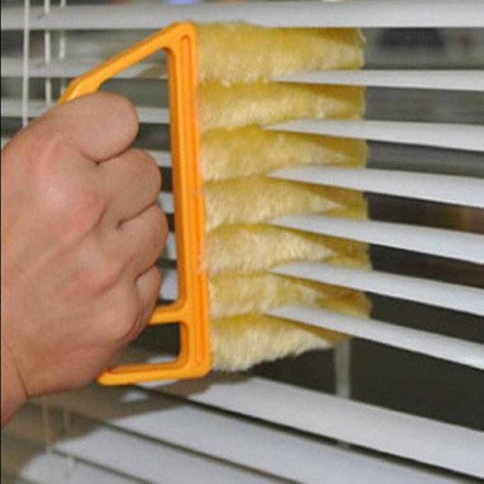 نافذة مفيدة تنظيف فرشاة الهواء مكيف المنفضة نظافة مع قابل للغسل البندقية البليد بليد القماش ZWL280