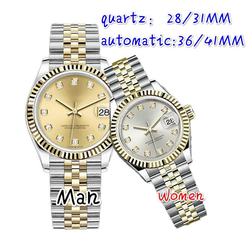 Yüksek Kaliteli Montre De Luxe Erkek Otomatik Saatler Tam Paslanmaz Çelik Aydınlık Kadın İzle Çiftler Stil Klasik Saatı Hediye