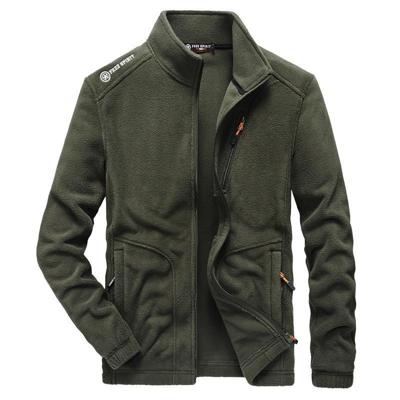 Men's Jackets 2021 Men Winter Cashmere Casual Hoodie Fleece Street Sweatshirt Sports Outdoors Clothes Streetwear