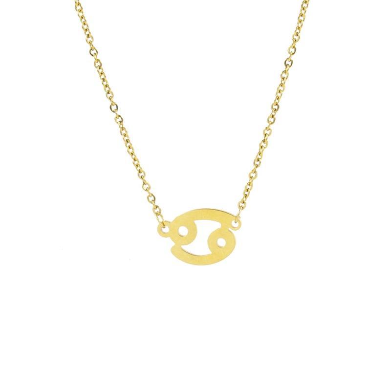 12 Sternbild Halskette Sternzeichen Edelstahl Halskette Gold Anhänger Halsketten Geburtstagsgeschenk Für Frauen Mädchen Großhandel Schmuck 68 K2
