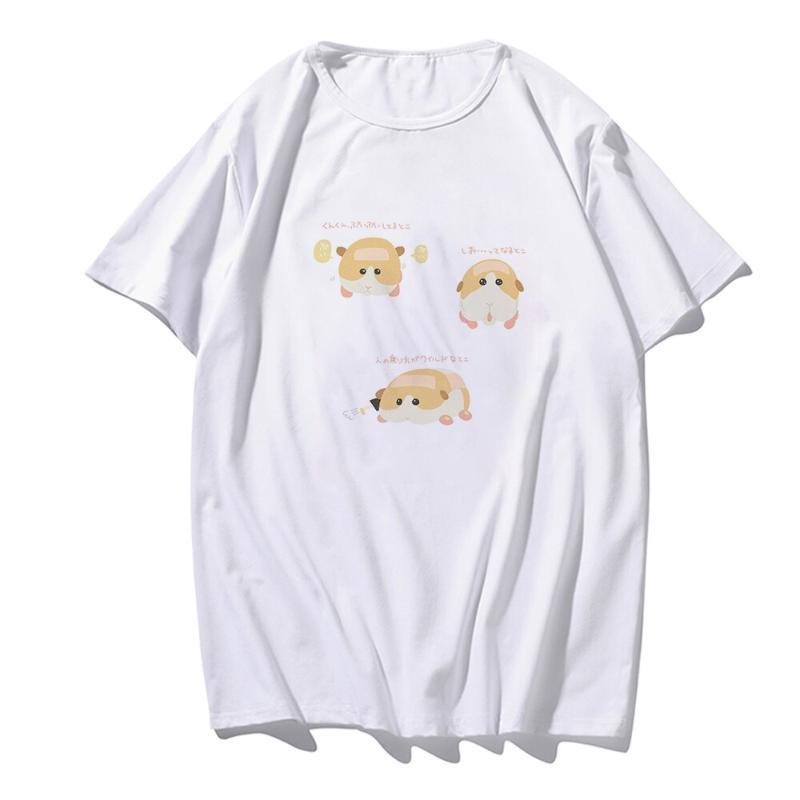 Anime Women Tshirt Top Star Mode Sukienki letie Kawaii Kleidung Blusas Harajuku Camisetas de Mujer Bluse Femme Manche Courting Damen T-S