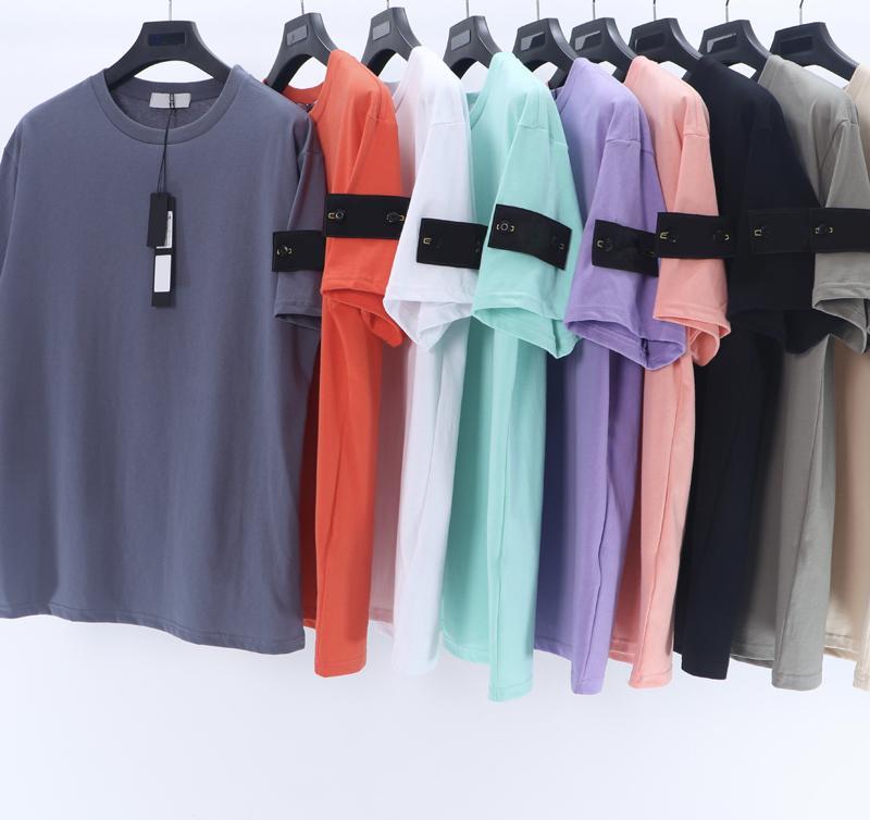 21SS Bonne Qaulity Summer Hommes Designers T-shirts T-shirts T-shirts 100% coton Imprimer la mode Couples décontractés Couples courtes Tee Hommes Applique T-shirt SI021