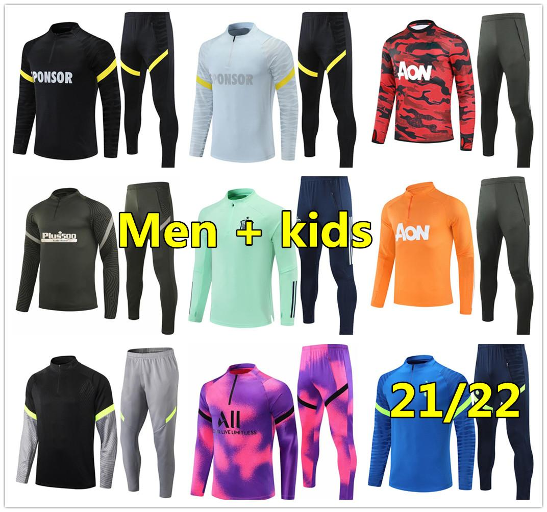 20 21 Mens soccer tracksuit football training suit 2020 2021 New football tracksuit jogging survetement de foot chandal