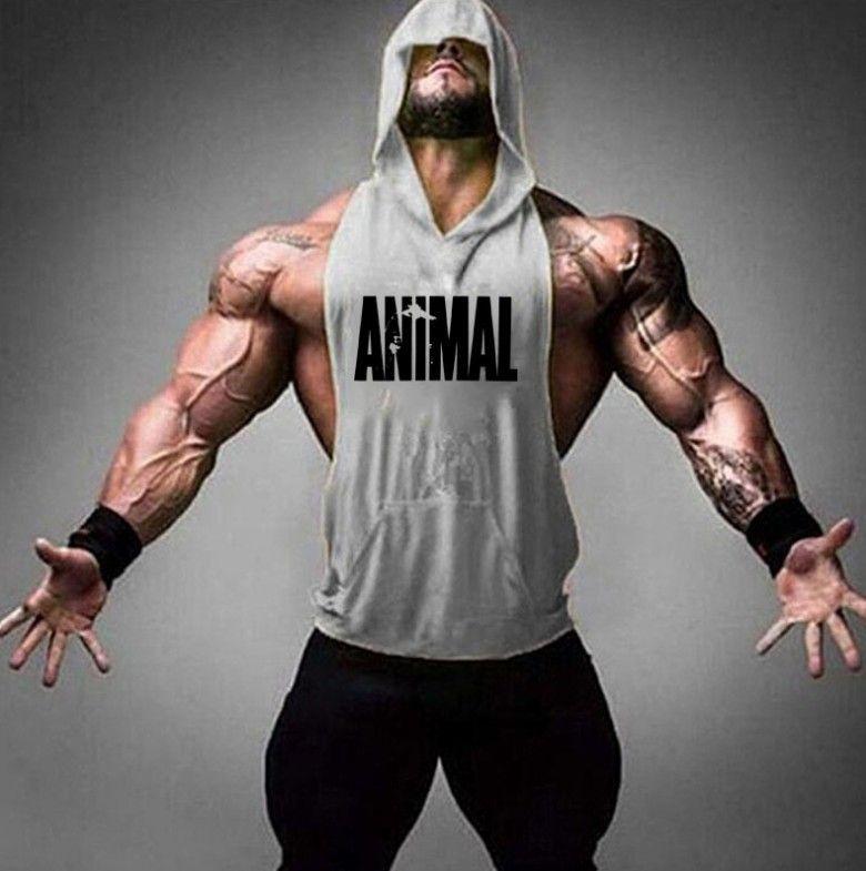 Бренд животных фитнес стрингер толстовки мышечная рубашка бодибилдинг одежда спортивные туристские топы мужские спортивные без рукавов футболки