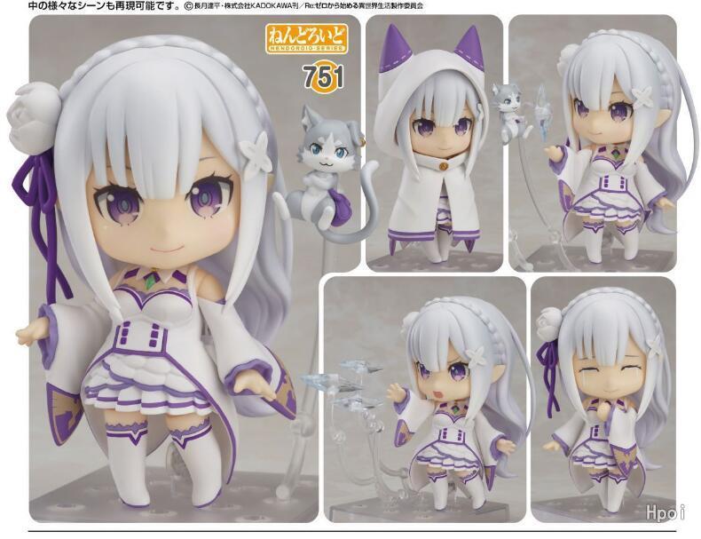 Re:Zero kara Hajimeru Isekai Seikatsu Emilia 751# Action Figure PVC New Collection figures toys Collection for Christmas gift 0730