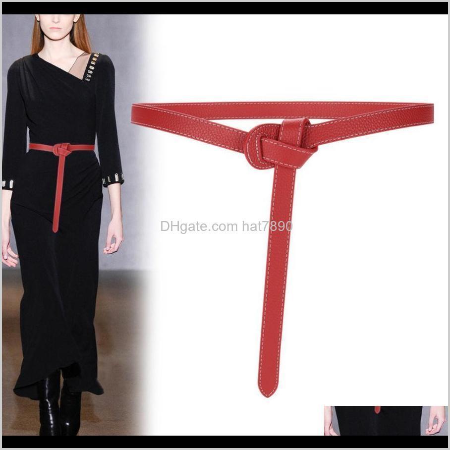 أحزمة شهية ولديسة الإناث المرأة بسيطة الكاكي دعوى الأزياء تنوعا حزام جلد ناعم حزام مع اللباس S5Y4 قطرة التسليم 2021 8