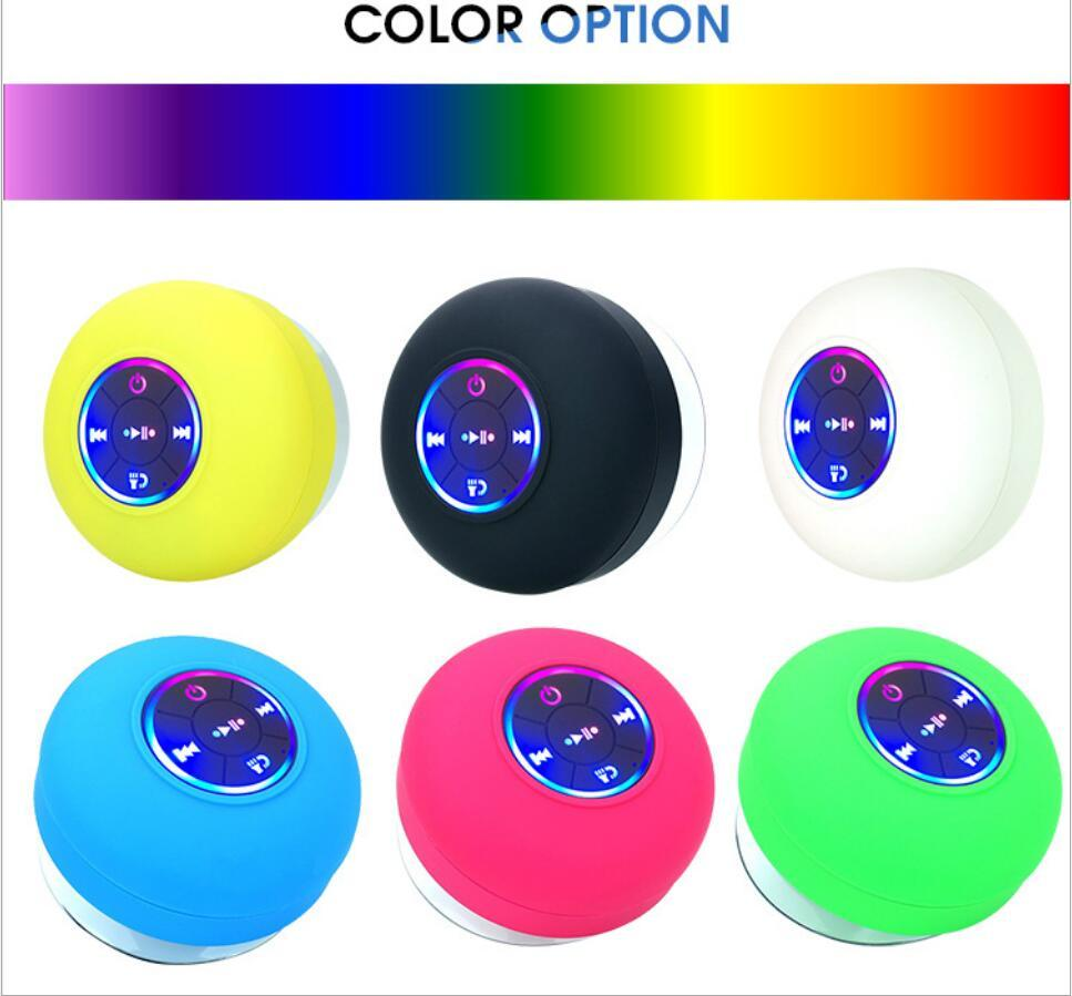 Speaker LED colorful bluetooth mobile phone holder with big suction cup