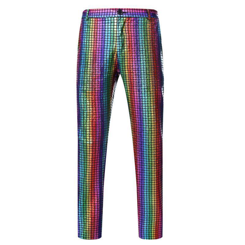 Nightclub uomini pantaloni moda pantaloni hip hop ballerino fresco oro timbratura pantaloni casual pantaloni lucidi palco costume vestito cantante partito ball ball usellale