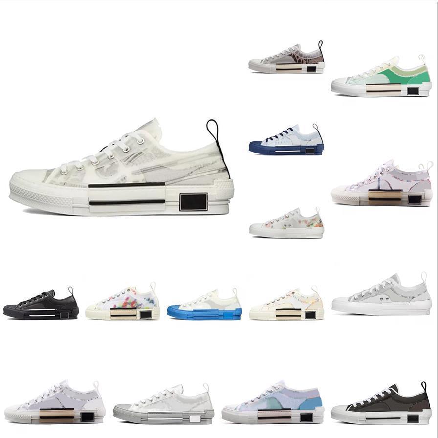 2021 diseñador de moda B23 zapatos casuales zapatillas para hombre zapatillas de deporte para hombres Hombres marcas oblicuas alto bajo B24 Técnico de lona de cuero Bee Classic Luxurys entrenadores
