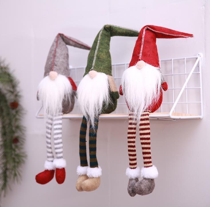 4 estilos NOMES TAGA Pierna Navidad Suecia Estatuillas Hecho a mano Christmass Gnome Muñeca de peluche sin rostro para adornos Regalos Niños Decoración de Navidad SN2346