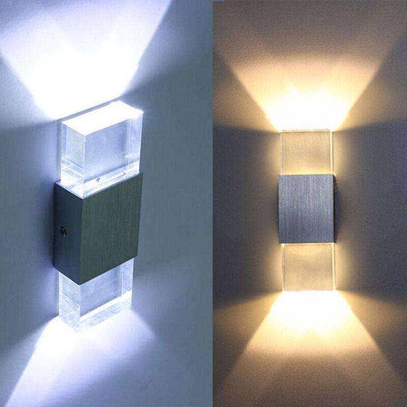 Lampada da parete moderna 2W Lampada da parete Lampada da bagno in alluminio di alta qualità, acrilico Crystal Bedroom Living Room House F-WL260C