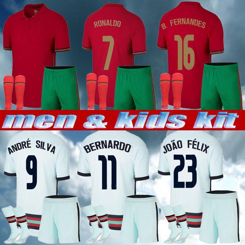 Uomini Kid Kit 2021 Ronaldo Soccer Jerseys Joao Felix 2022 Euro Fernandes Diogo J Bernardo Camicia nazionale di calcio