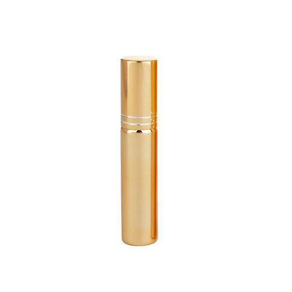 2021 Yeni 10 ml Cam Kaplama Sprey Şişe Boş Parfüm Şişesi Atomizer Slivery Glod Siyah Cam Parfüm Flakon Kozmetik Konteyner
