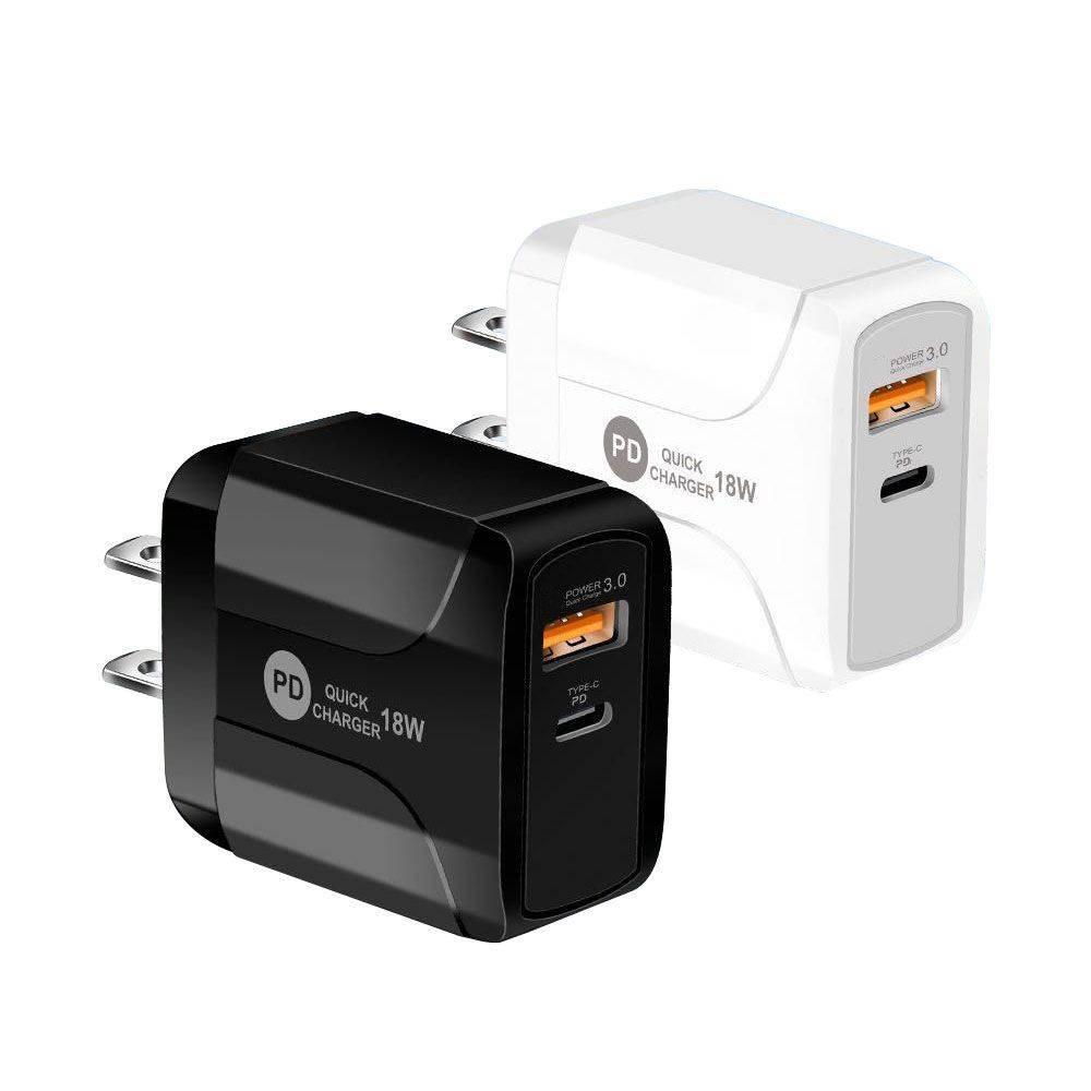 20W QC 3.0 PD 듀얼 USB 벽 충전기 US EU UK 플러그 iPhone 11 12 Pro Max XR 7 8Plus 삼성 주 20 어댑터