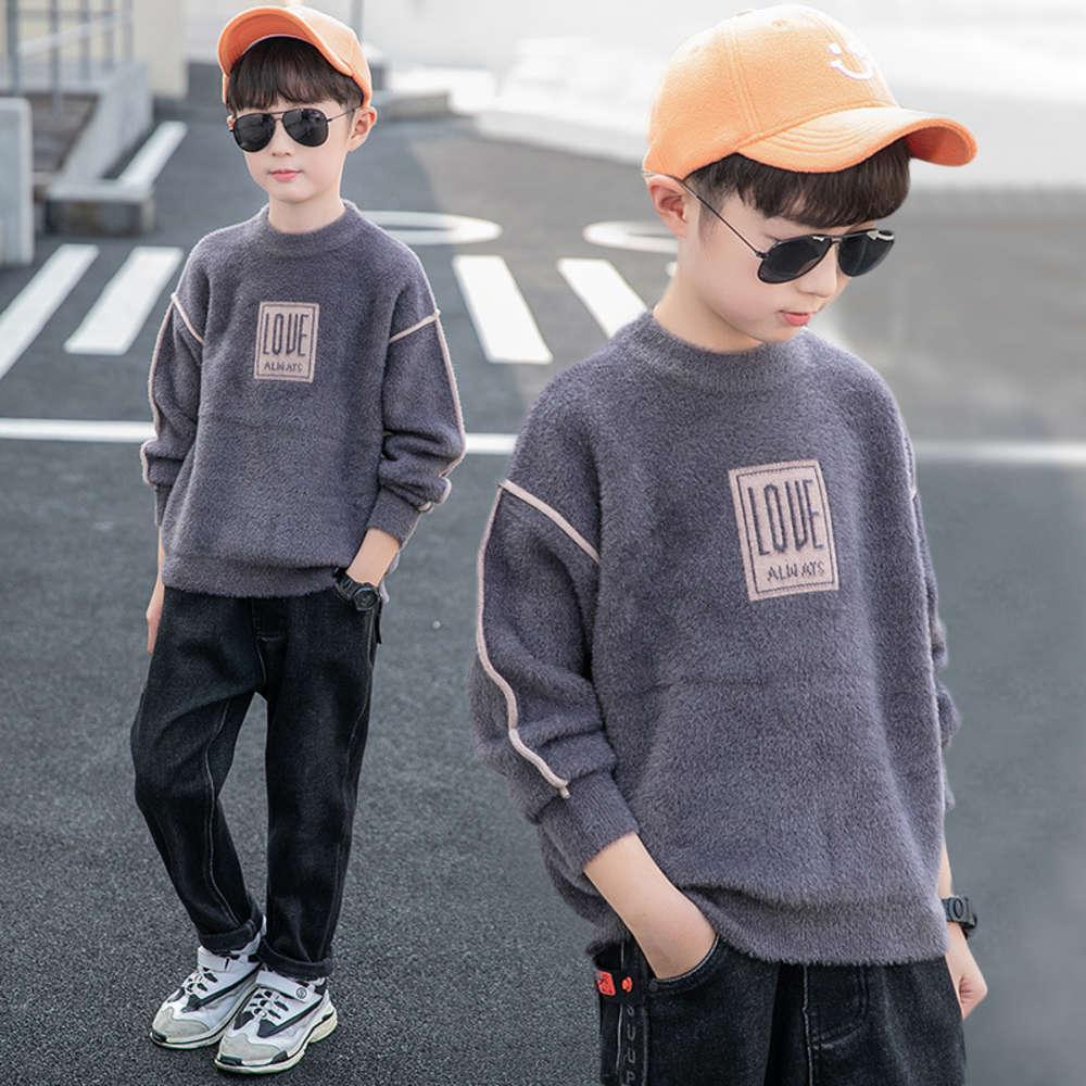 Кашемири физической стрельбы кардигана, кашемировые норки осень зима Zhongda футболка свитер детская одежда