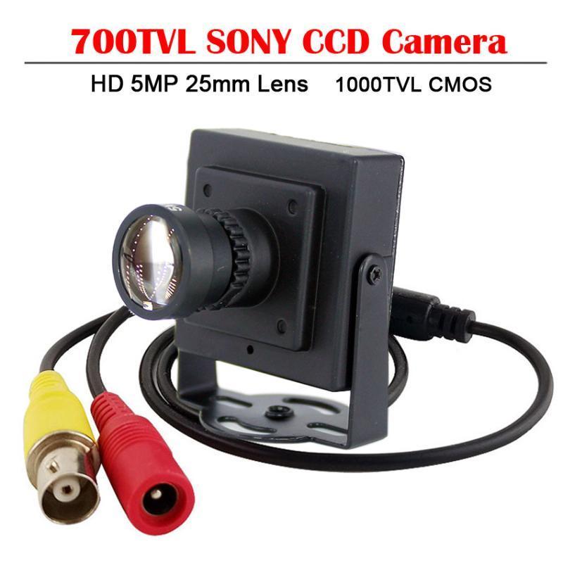 Cameras HD 5MP 25mm Lens Sony CCD 700TVL Camera 1000TVL 700TV CMOS CCTV Security Box Color Mini +RCA Adapter Car Overtaking