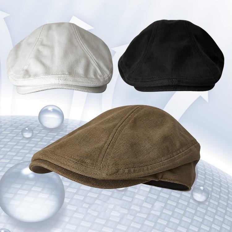 모자 맨 봄 여름 린넨 베레모 남자 영국 레트로 야외 캐주얼 여성 모자 모자