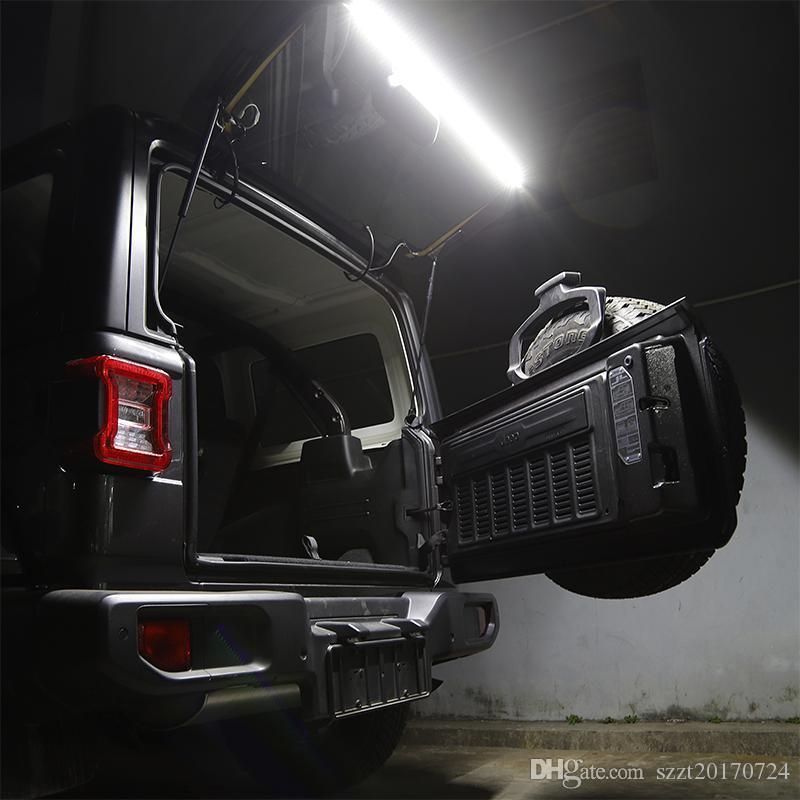 JK Jeep Kuyruk Şeridi Arka Işık JL LED Işık Wrangler Araba için LED LED TJ Trunk İç Bagaj Kapağı 1997+ Aksesuarlar XMKXS