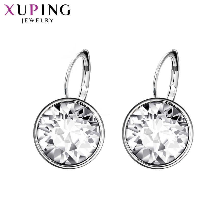 Brincos de cristais de moda de jóias Xuping com cor ródio banhado para mulheres presente xe2189 210611