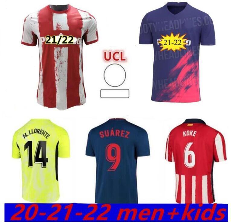 João Félix Atletico Soccer Jerseys de Madrid Suarez Correa Koke Diego Costa Griezmann Camiseta Fútbol Llorente Camicia da calcio