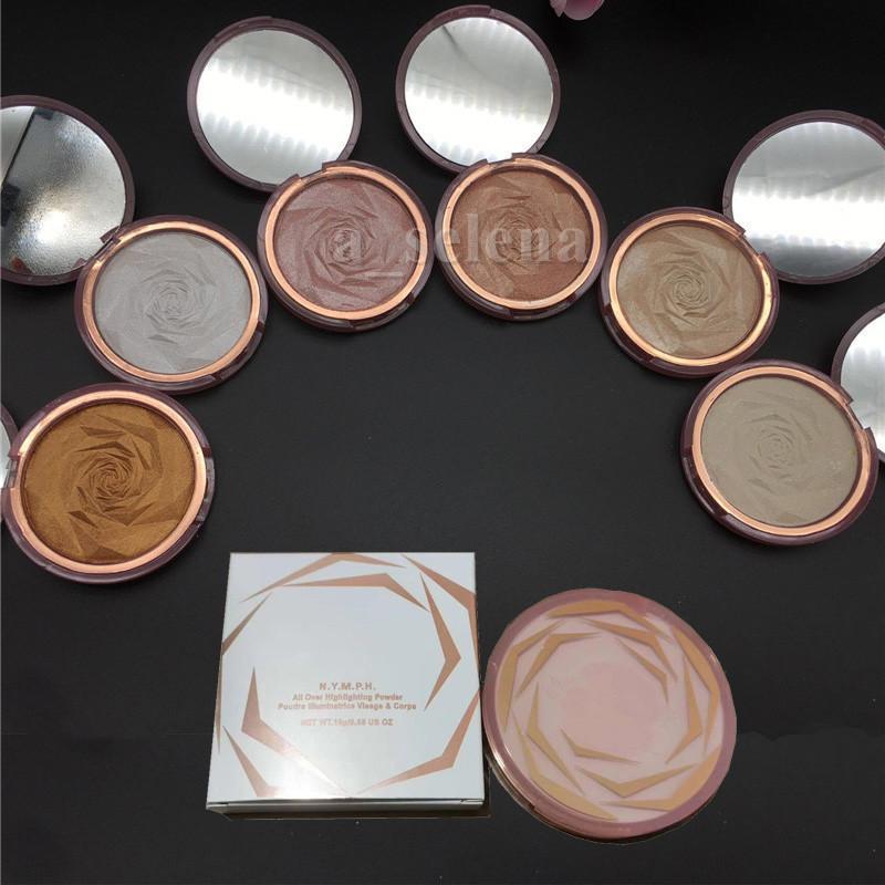 Beauté Face Maquillage Rose Souligner les bronzeurs de puissance de Contour au four et des surlignants sur la surbrillance de 6 couleurs
