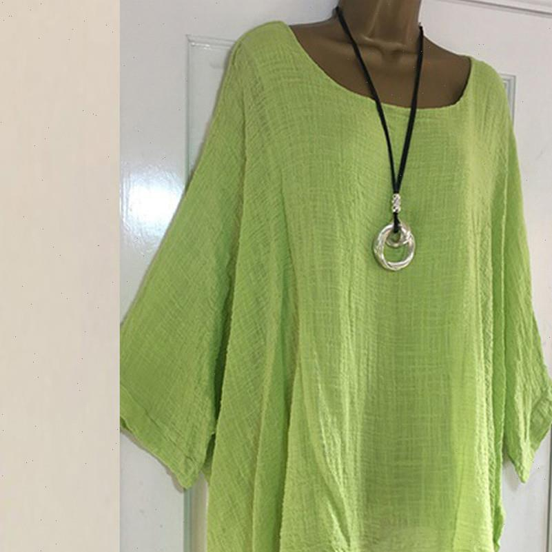 Plus Size Cotton And Womens Blouses Linen Breathable Tops Solid Color Casual Tunic Female Long Sleeve Clothes Fall