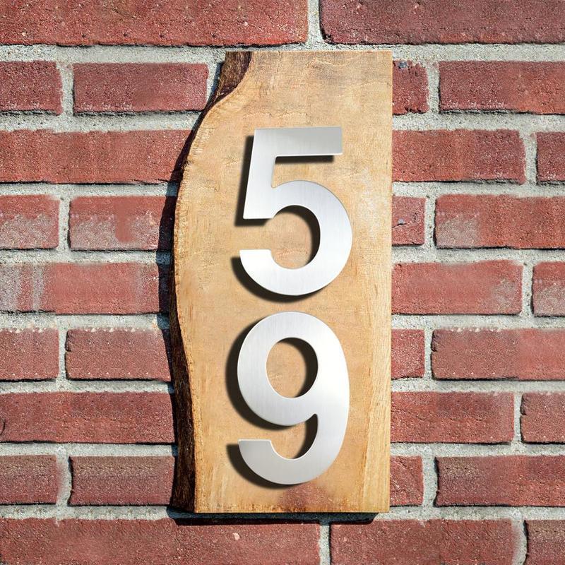 15cm 하우스 번호 기호 # 9 Huisnummer 야외 실버 6 인치. 숫자 플레이트 홈 주소 간판 Numeros Casa Exterior 큰 다른 문 하드