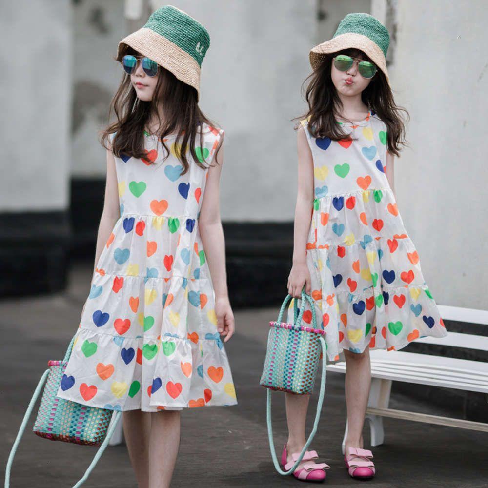 Девушки платья физические съемки летняя приморская праздник девушка детская любовь печатает сладкие др хлопчатобумажные svels vt юбка