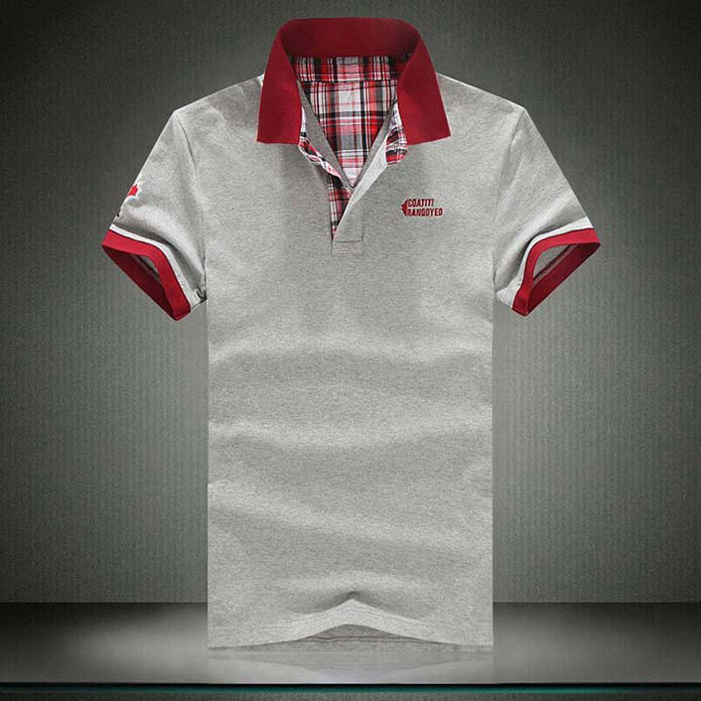 Повседневная новая вышитые хлопчатобумажные мужские рубашки мода мужская рубашка с коротким рукавом B Большой размер M-3XL вышивка TRE