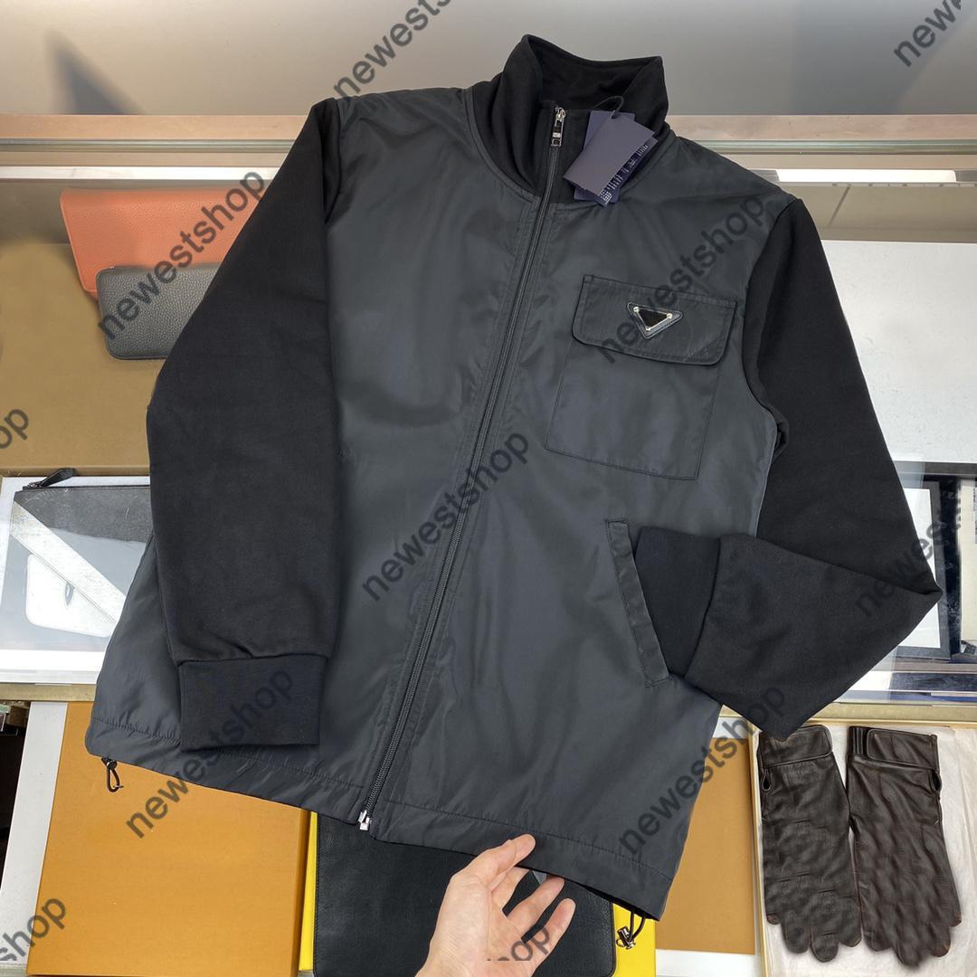 21ss Spring Autumn Designer Chaquetas Geometría Hombre Imprimir Abrigos Outerwear Hombre Hombres Ropa Algodón Negro Zip Streetwear Outwear Chaqueta