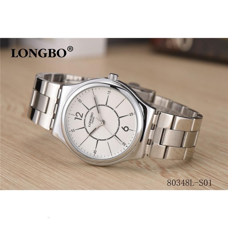 Calendrier Longbo Watch Gratuit / Steel Ceinture Simple Quartz Watz Simple's 80348