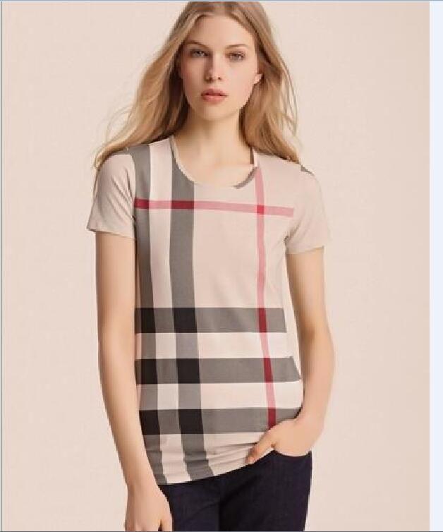 2021 Neue Frauen Sommer Plaid Kurzarm T-Shirt Klassische karierte Baumwolle Bottoming Hemd Jacke Top