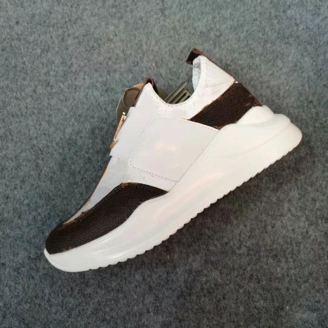Moda Atletik Açık Baskı Spor Ayakkabı Büyük Çocuklar Eğitmen Mektup Metal Düğme Kanca Döngü Kahverengi Beyaz Siyah