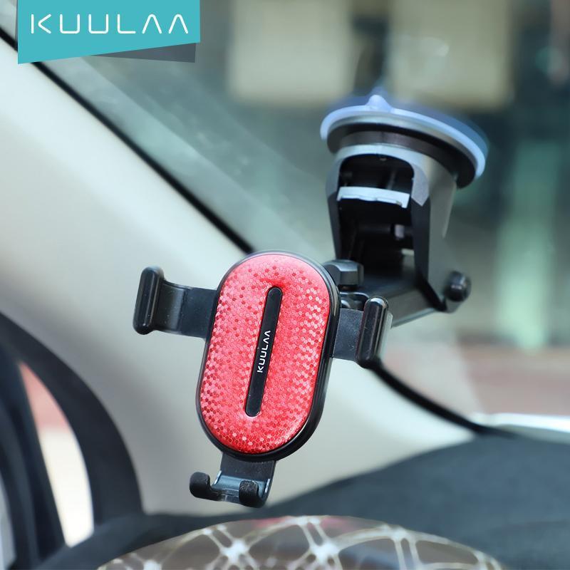 Mobiltelefonhalterung Inhaber Kuulaa Auto Halter Windschutzscheibensauger Mobilständer für 12 Pro Max Mini Smartphone Unterstützung in Universal Hold