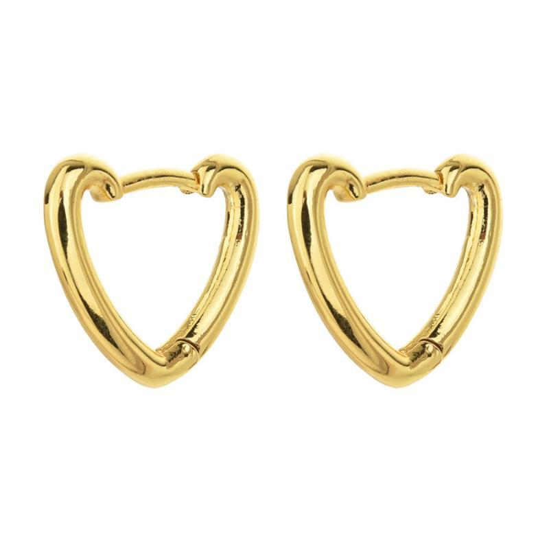 Hoop & Huggie 2021 European And American Fashion Women Ins Smooth Heart Earrings Sexy Party Gold Gifts For Lovers