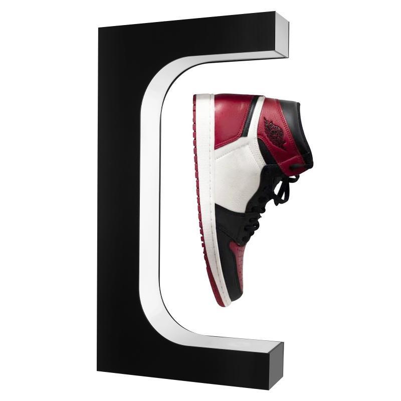 Zapatos de levitación magnética de los rieles de los ganchos Pantalla de zapatillas de deporte flotante de 360 grados Rotating Holds 500g Levition Gaps 20mm
