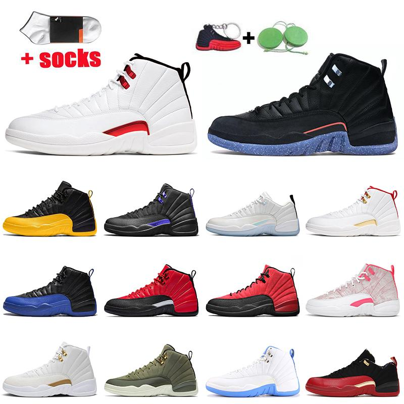 Twist 12s Utility 2021 Jumpman 12 Basketball Shoes Mens Trainers Low Easter Arctic Punch Dark Concord University Gold OVO White Off Sports Sneakers