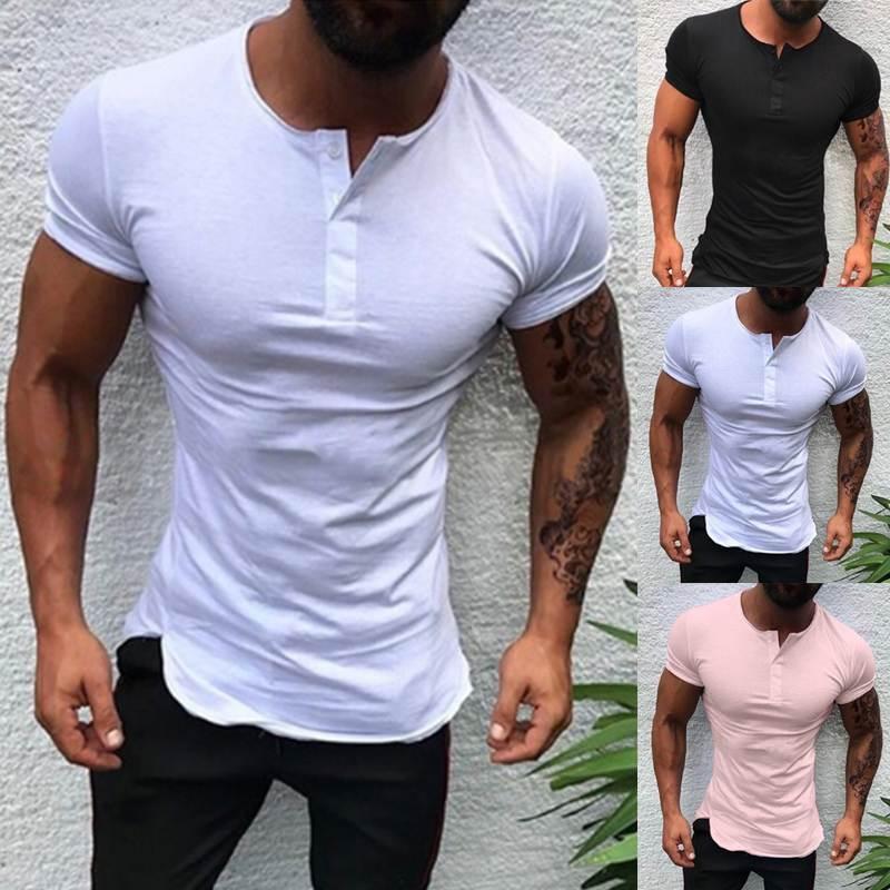 남성용 T 셔츠 패션 스트리트 스타일 티셔츠 망 의류 곡선 밑단 긴 라인 탑 티셔츠 힙합 도시 빈 기본 티셔츠