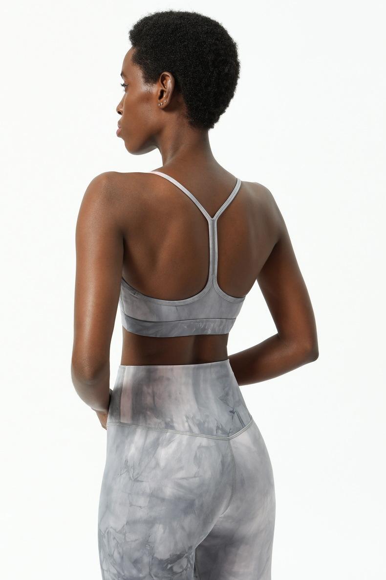 2021 Carri armati Donna Sport Bra Tie-Tintens Womens Lu Yoga Bras Fitness Nudo Stampato Tight Tight Twoing Biancheria intima 6-12