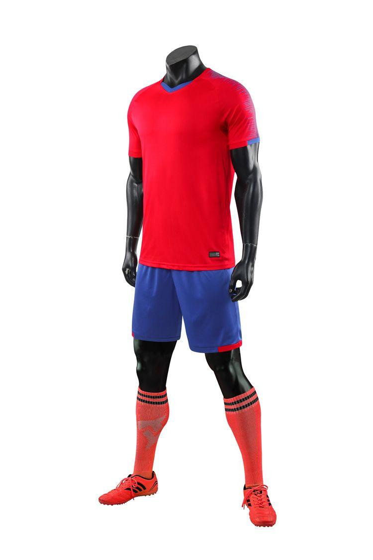 كرة القدم جيرسي أطقم كرة القدم اللون أزرق أبيض أسود أحمر 25856247144
