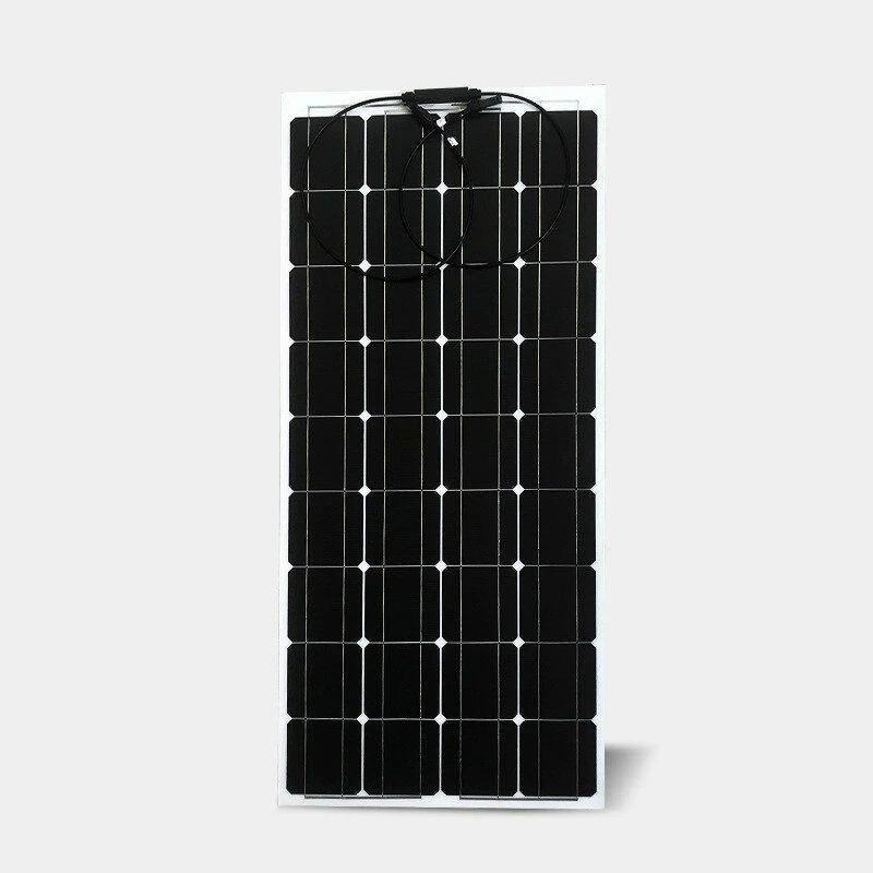 18 V 100 W Güneş Panelleri Kiti Komple Anti Scratch Esnek Hücre Paneli Pil Güç Bankası Şarj Sistemi Ev Için