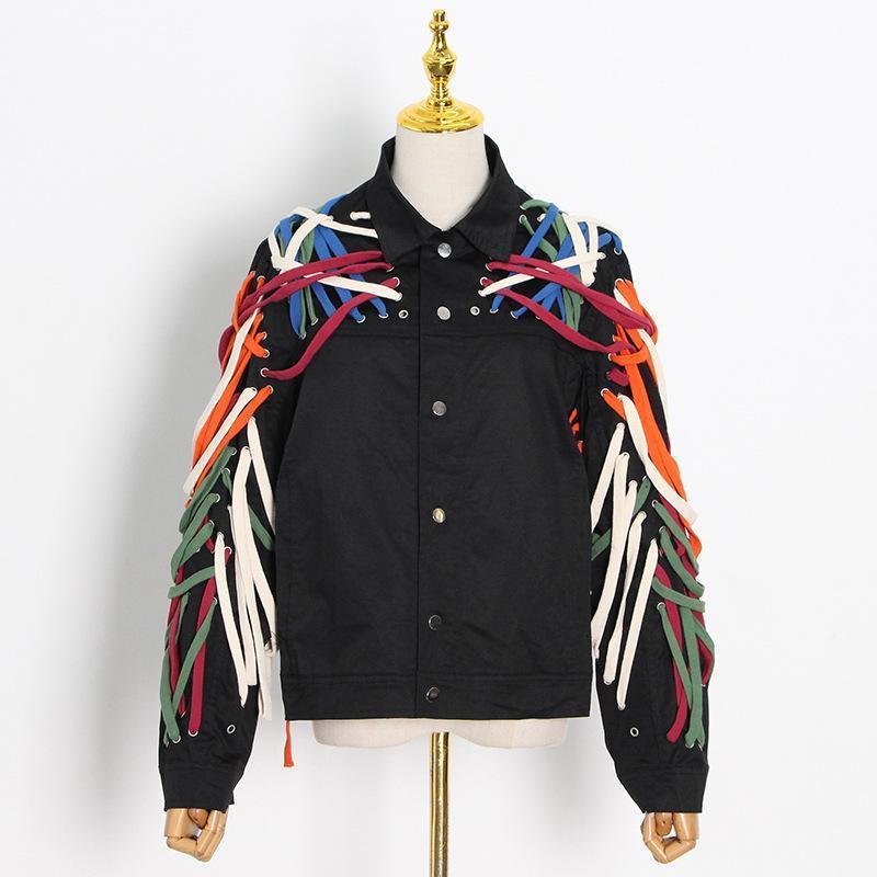Ventas separadas 2 piezas de las mujeres enredo de la moda JUEGOS DE MATCHING 2021 Autumn Runway Streetwear Vendaje Chaqueta Trajes Dos pantalones de mujer