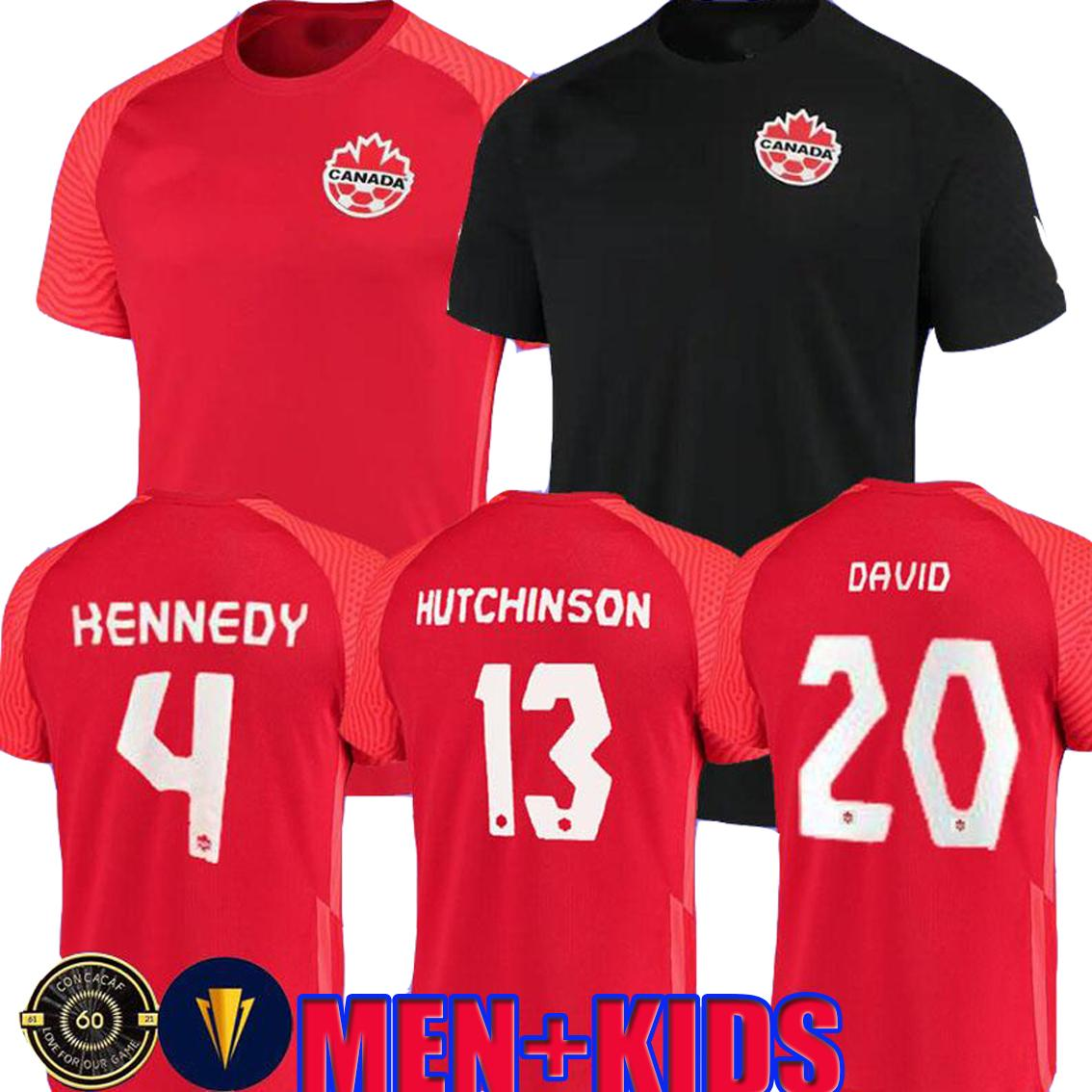 21 22 Canada Football Jerseys Équipe nationale Concacaf Gold Cup Evstaquio Hutchinson 2021 Davies David Larin Cavallini Laryea Millar Honette Kennedy Football Shirts