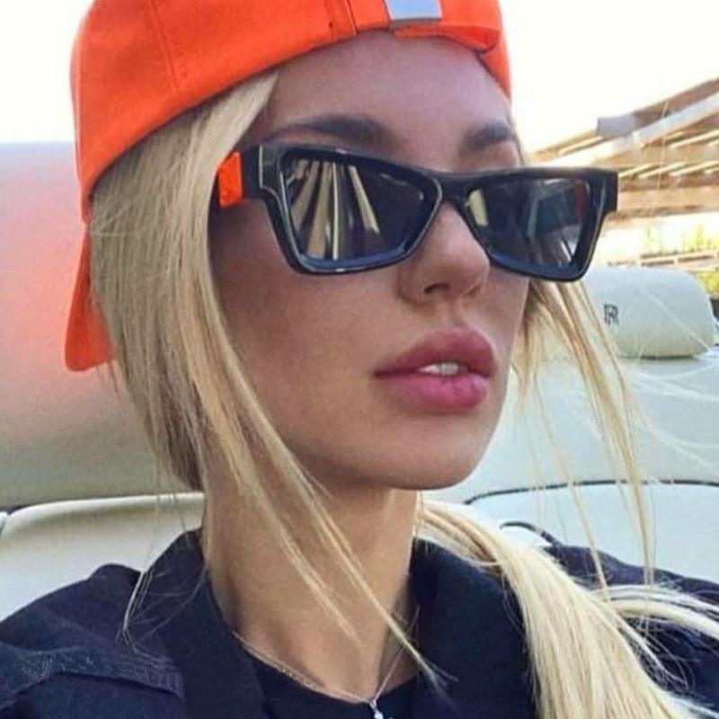 Vintage Marke Cat Eye Sunglasses Frau Schwarz Kleine Farbtöne für Frauen 2021 Retro Quadratische Sonnenbrille Weibliche Unisex UV400 Oculos