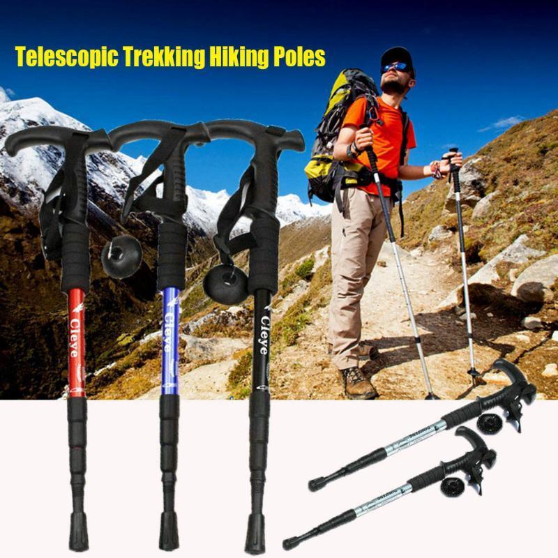 Pasteles anti-nórdicos Trekking Senderismo Postes Pasteles Ultralight Canes con puntas de goma Protectores