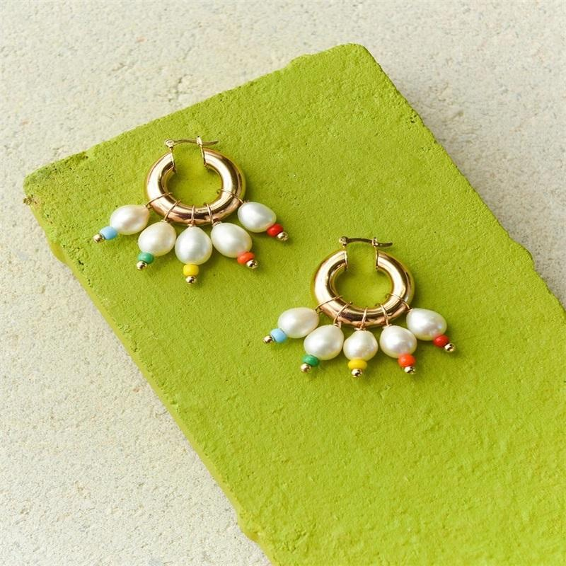 Natürliche Barocke Perle Halskette Mode Glamour Schmuck Frauen Halskette Rote Korallen Anhänger Böhmische handgemachte Erklärung BEST 1637 Q2